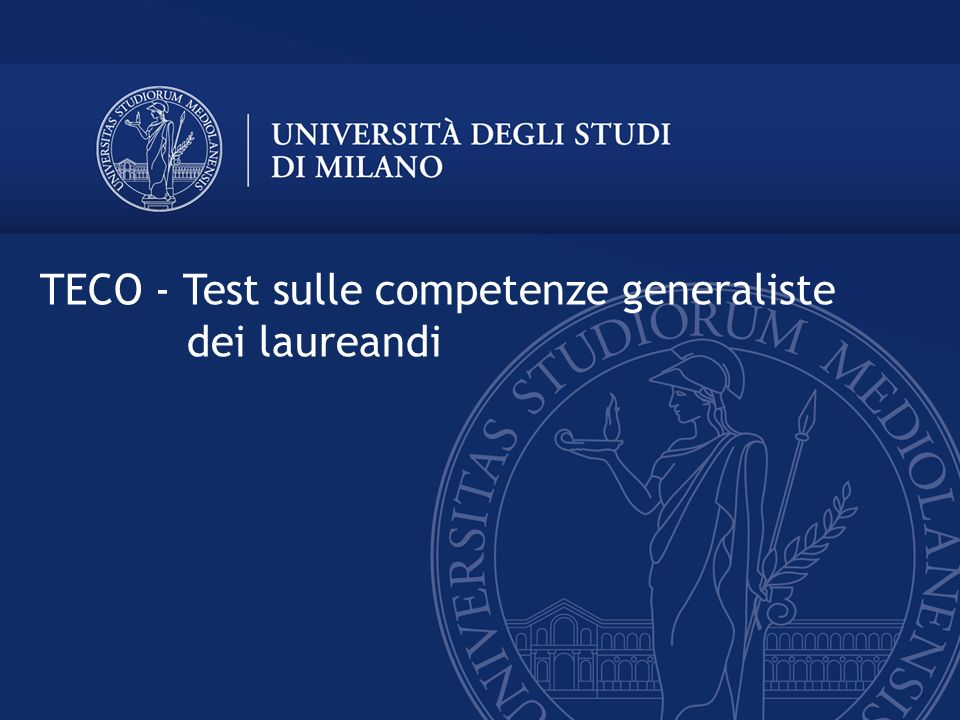 TECO - Test sulle competenze generaliste