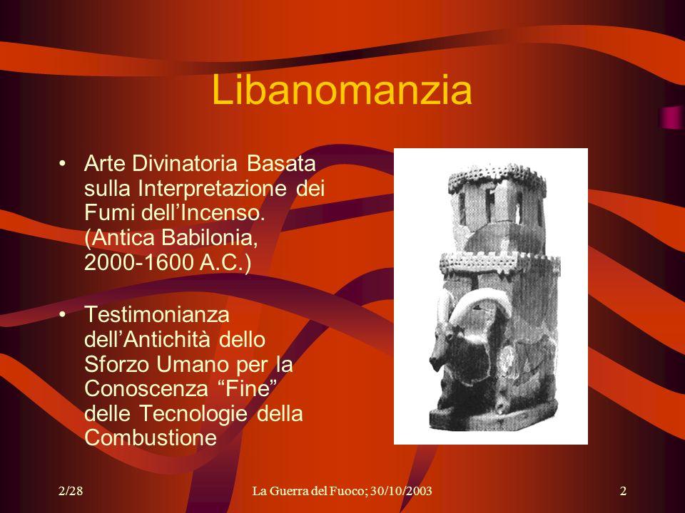 Libanomanzia Arte Divinatoria Basata sulla Interpretazione dei Fumi dell'Incenso. (Antica Babilonia, 2000-1600 A.C.)
