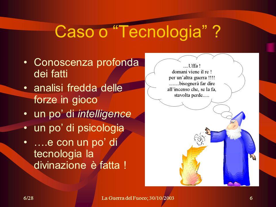Caso o Tecnologia Conoscenza profonda dei fatti