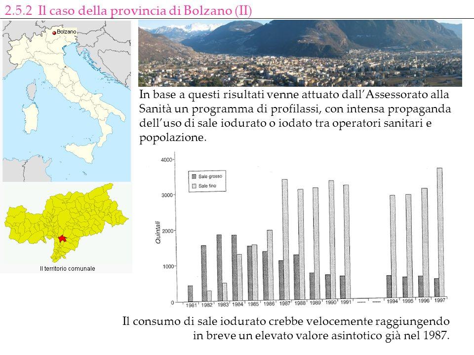 2.5.2 Il caso della provincia di Bolzano (II)