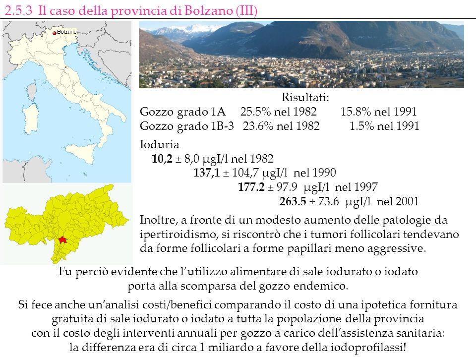 2.5.3 Il caso della provincia di Bolzano (III)