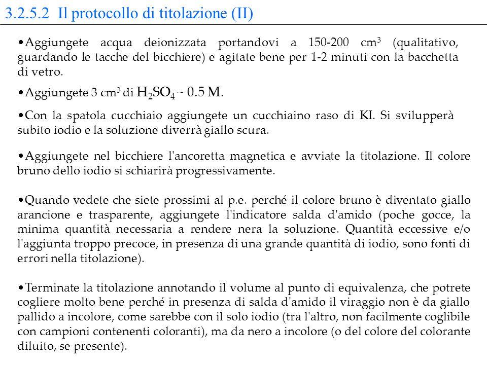 3.2.5.2 Il protocollo di titolazione (II)