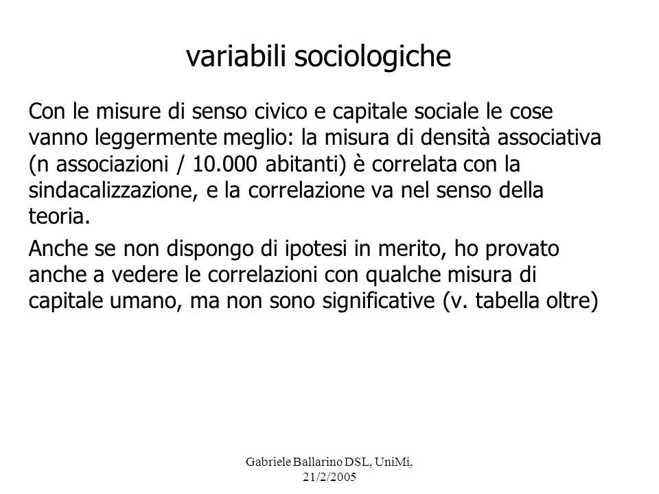 variabili sociologiche