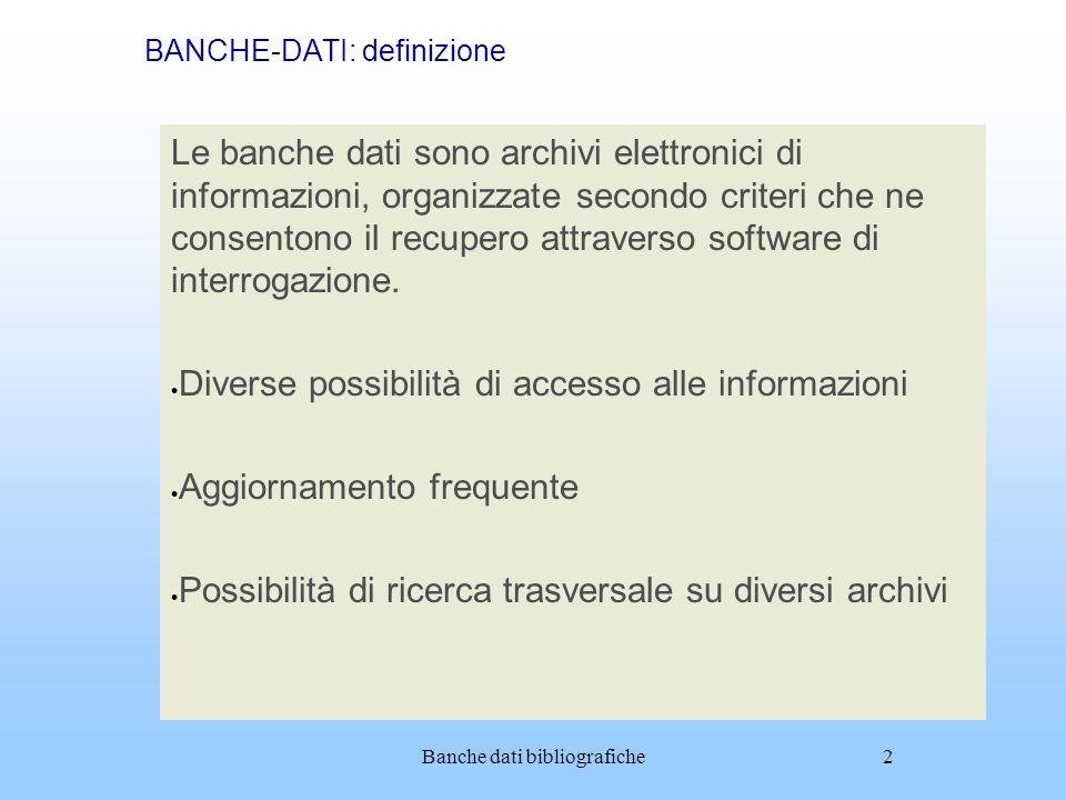 BANCHE-DATI: definizione