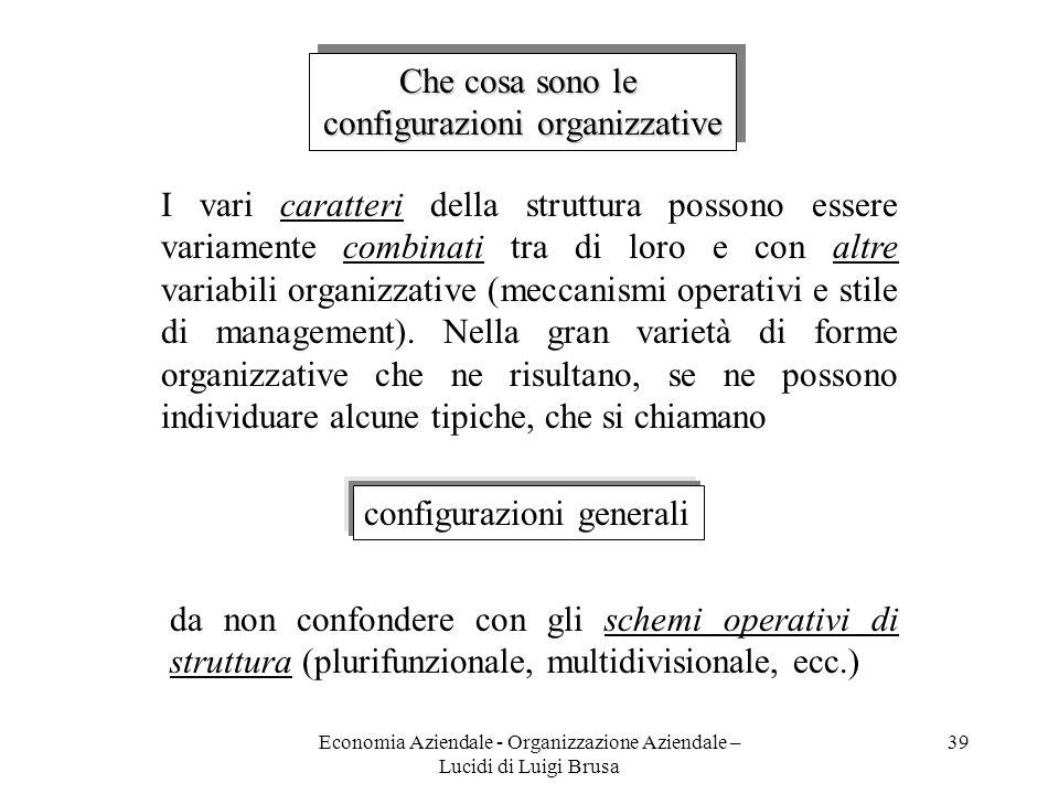 configurazioni organizzative