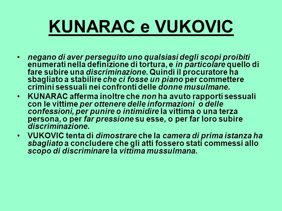 KUNARAC e VUKOVIC