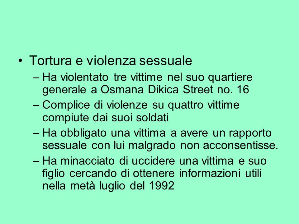 Tortura e violenza sessuale