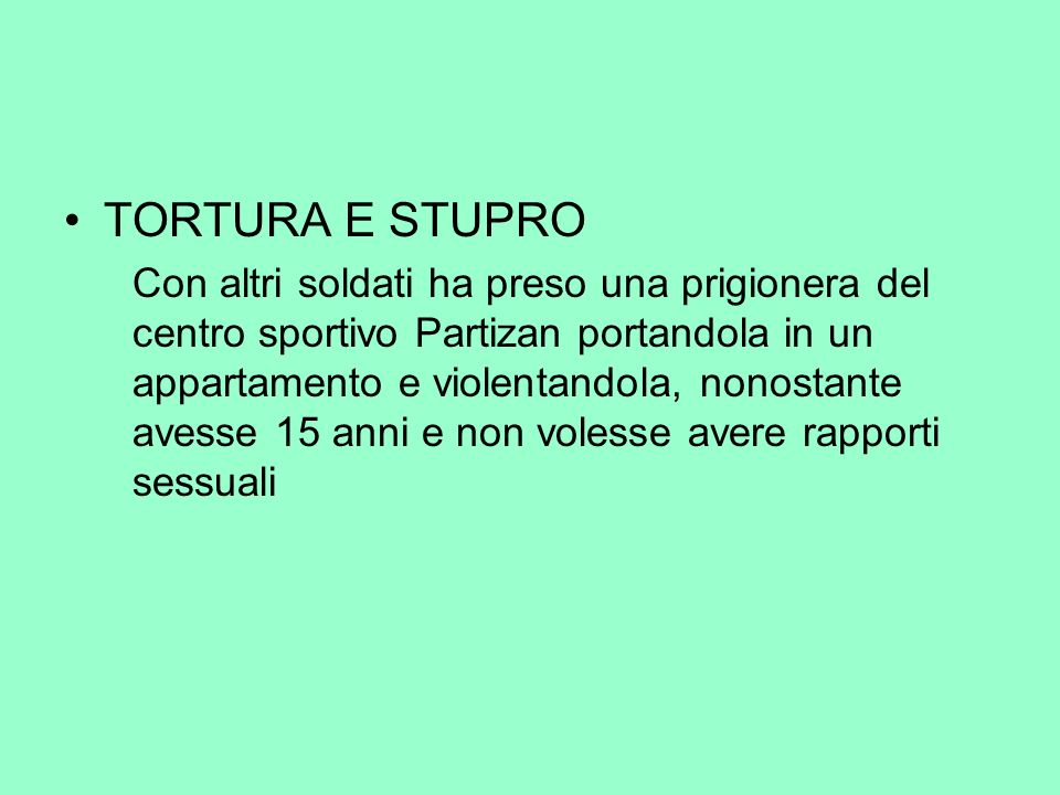 TORTURA E STUPRO