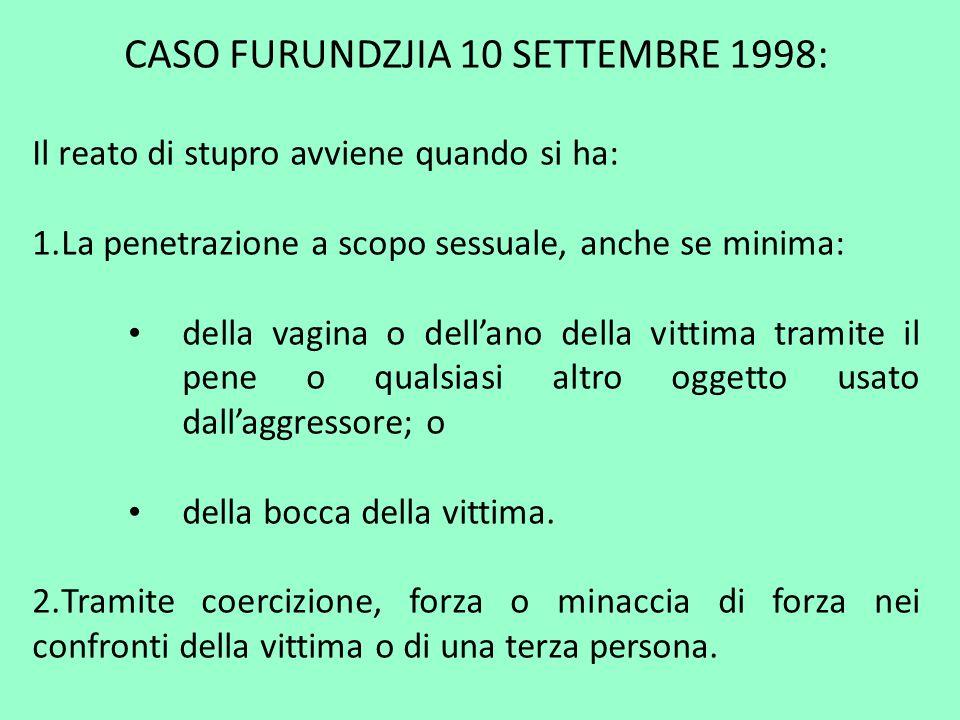 CASO FURUNDZJIA 10 SETTEMBRE 1998: