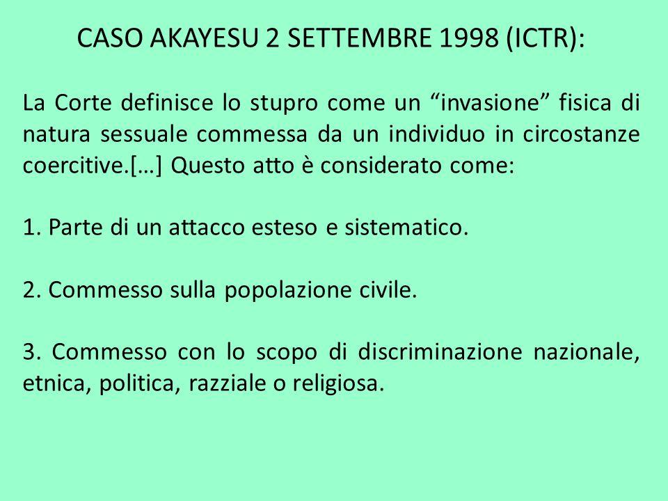 CASO AKAYESU 2 SETTEMBRE 1998 (ICTR):