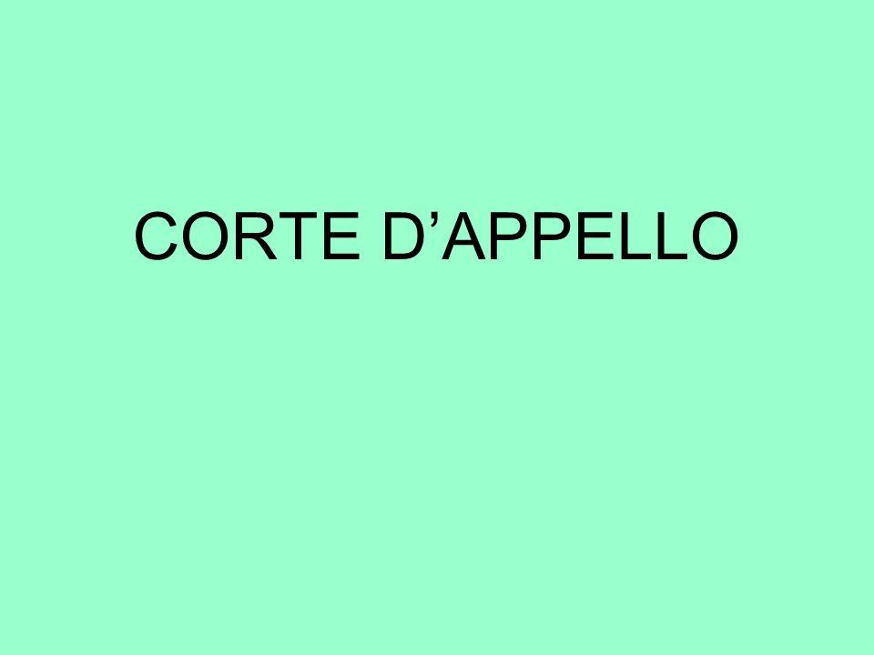 CORTE D'APPELLO