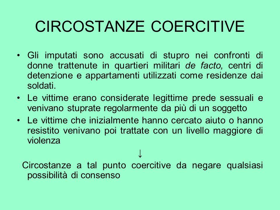 CIRCOSTANZE COERCITIVE