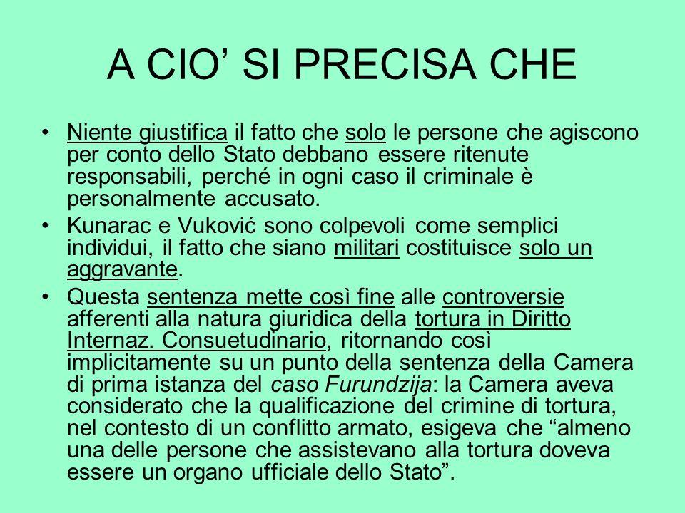 A CIO' SI PRECISA CHE