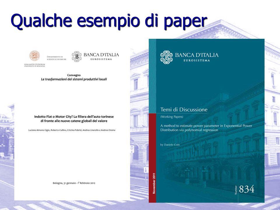 Qualche esempio di paper