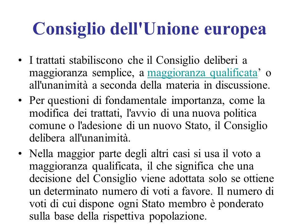 Consiglio dell Unione europea