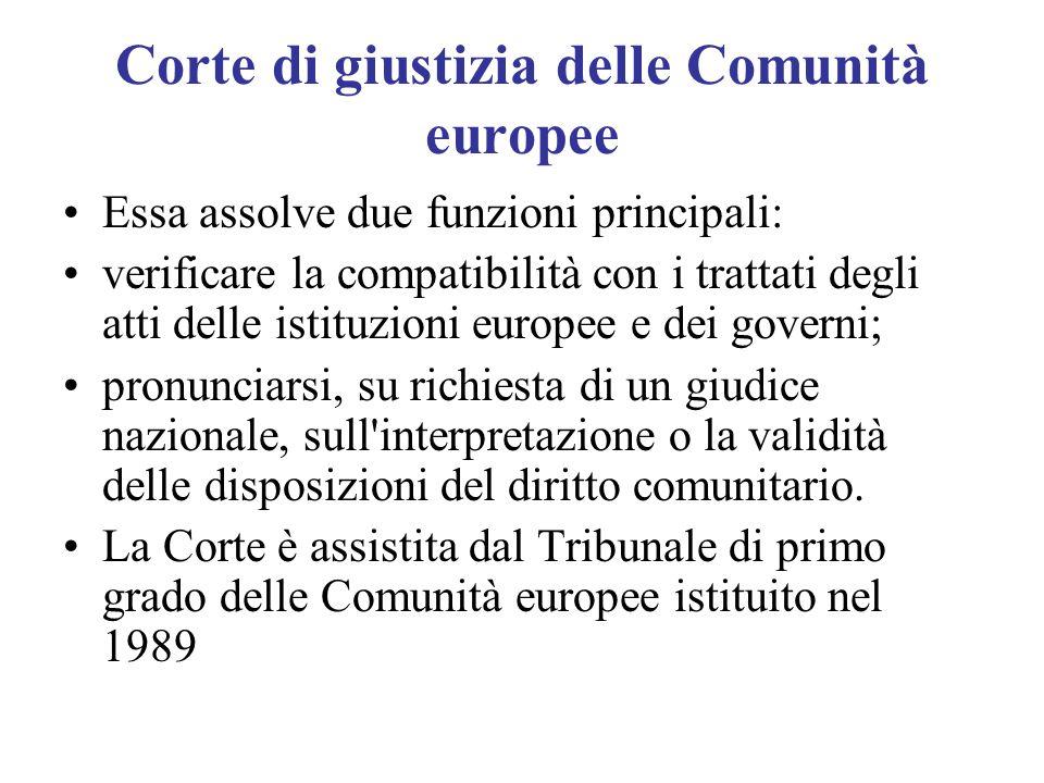 Corte di giustizia delle Comunità europee