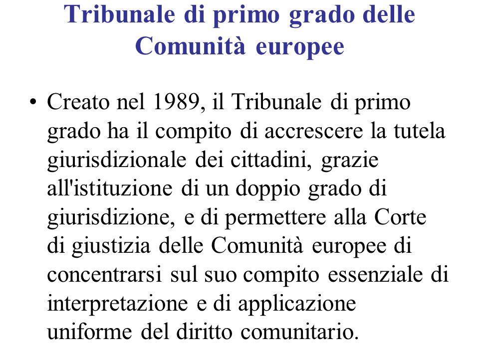 Tribunale di primo grado delle Comunità europee