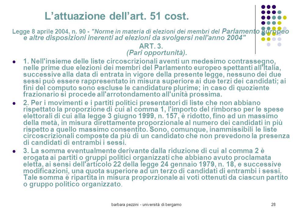 L'attuazione dell'art. 51 cost.