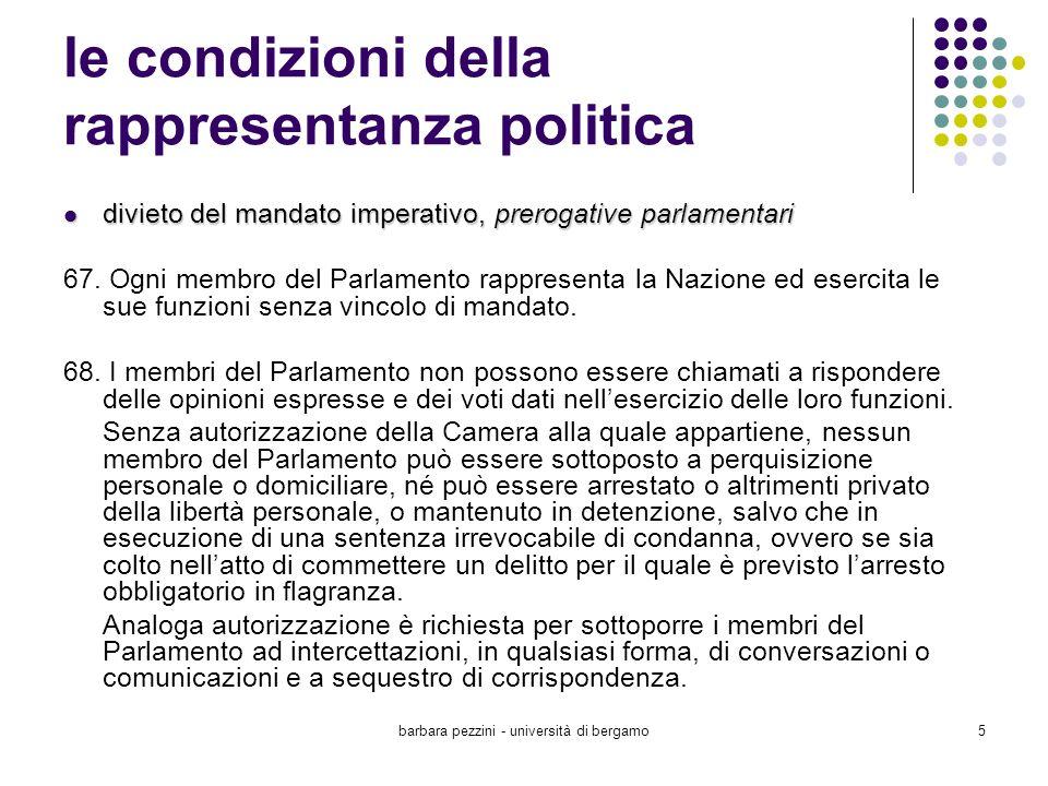 le condizioni della rappresentanza politica