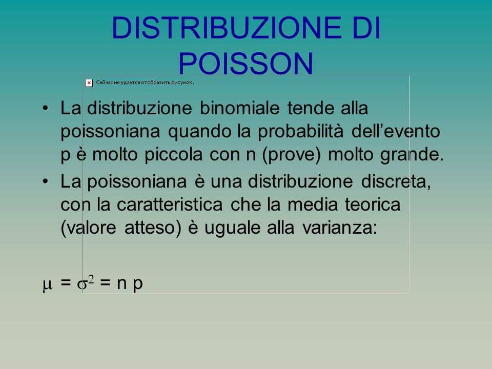 DISTRIBUZIONE DI POISSON