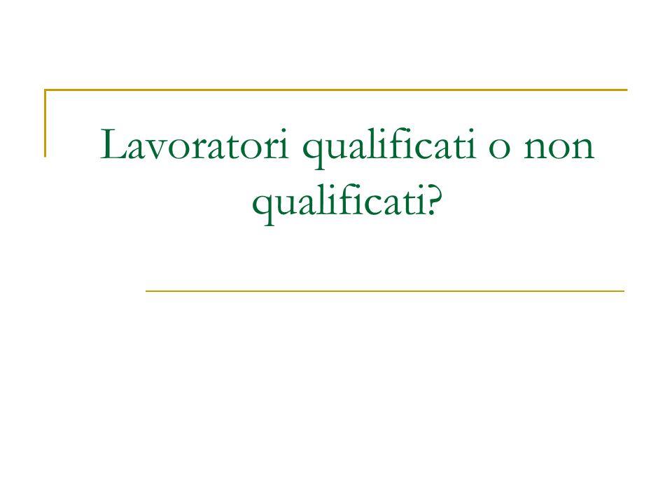 Lavoratori qualificati o non qualificati