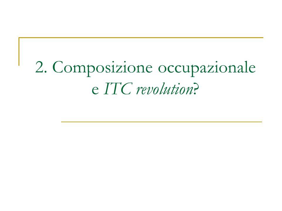 2. Composizione occupazionale e ITC revolution