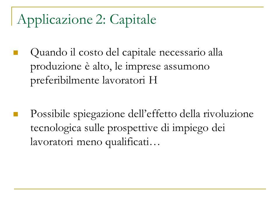 Applicazione 2: Capitale