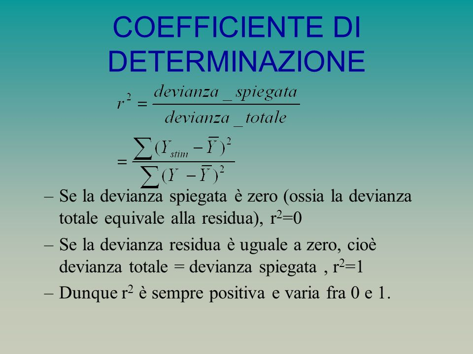 COEFFICIENTE DI DETERMINAZIONE