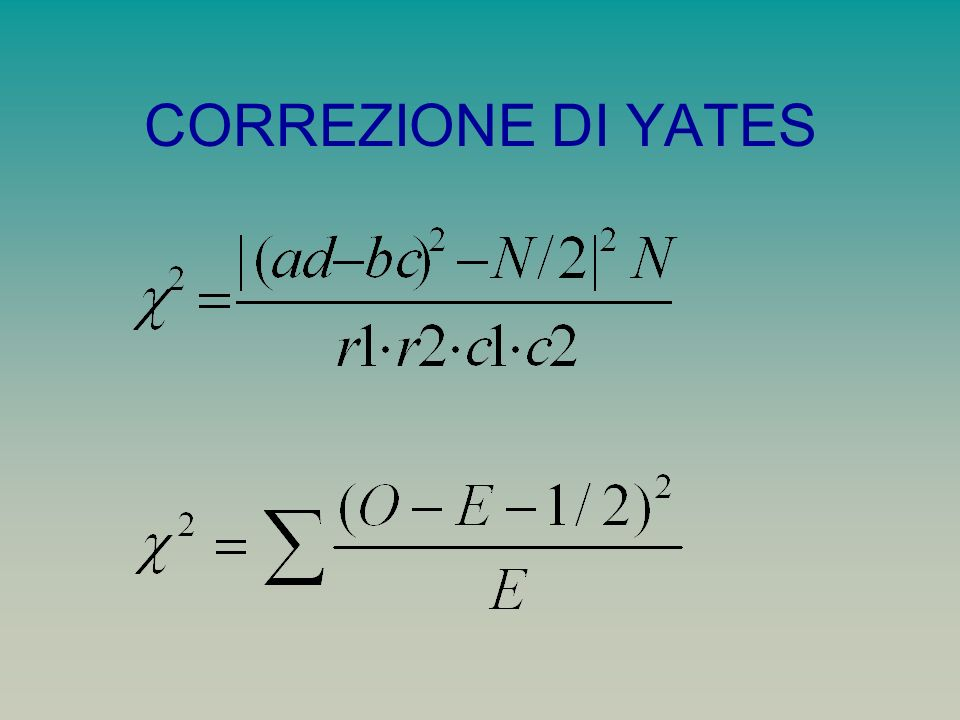 CORREZIONE DI YATES