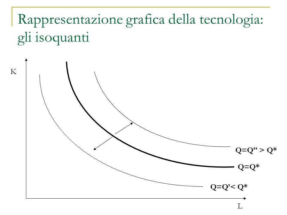Rappresentazione grafica della tecnologia: gli isoquanti