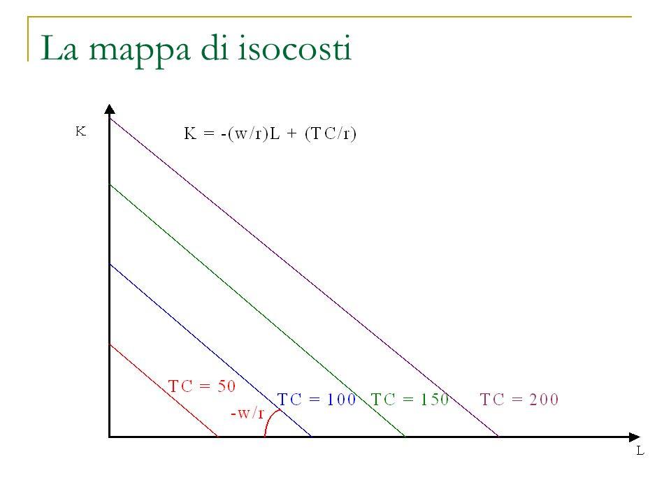 La mappa di isocosti