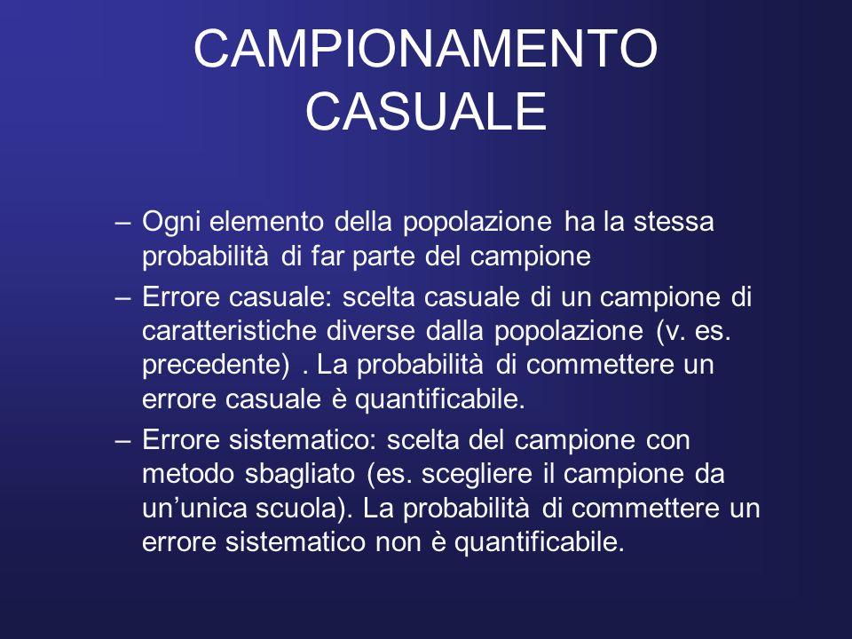 CAMPIONAMENTO CASUALE
