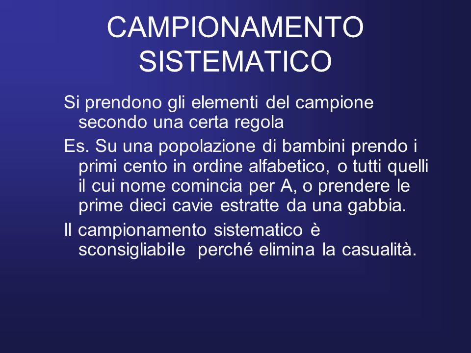CAMPIONAMENTO SISTEMATICO