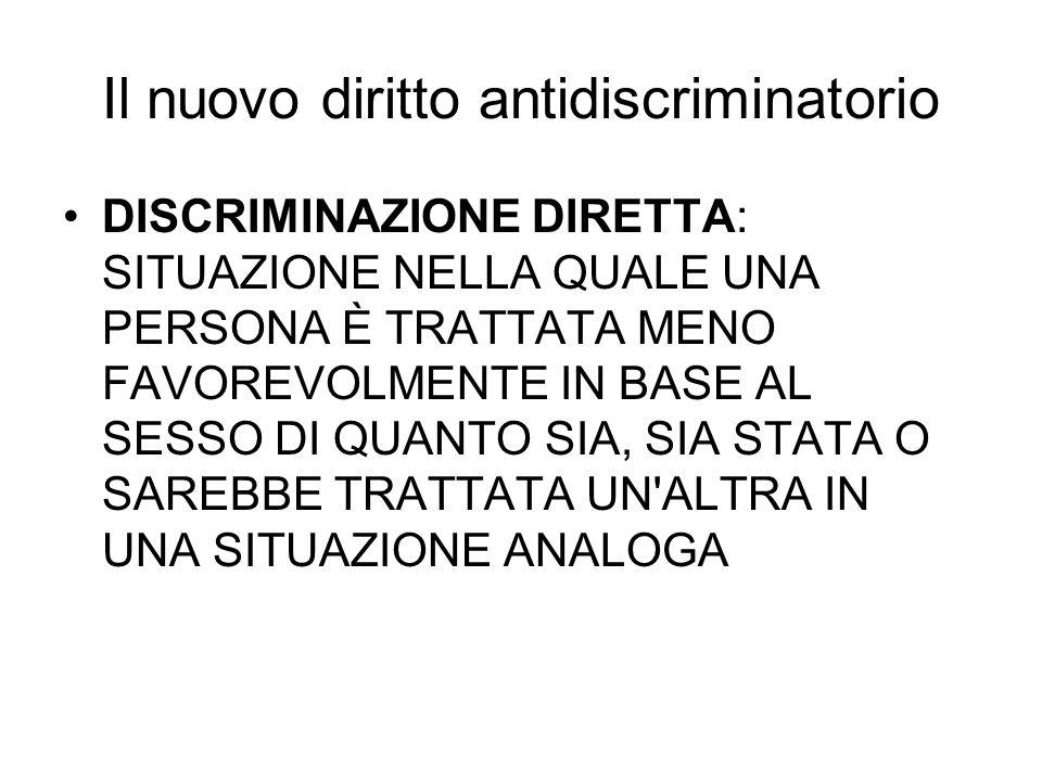 Il nuovo diritto antidiscriminatorio