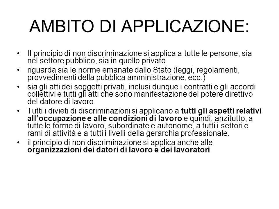 AMBITO DI APPLICAZIONE: