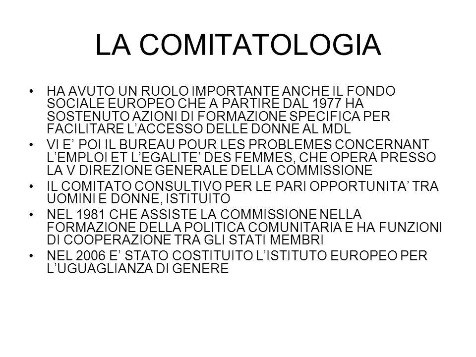 LA COMITATOLOGIA