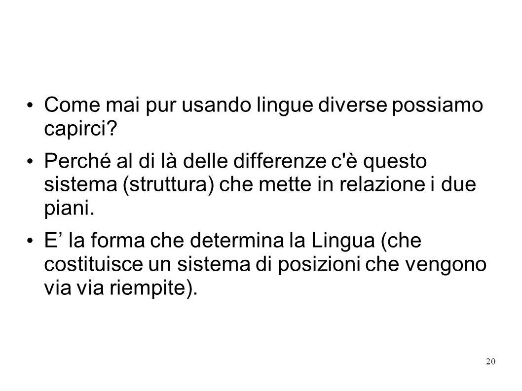 Come mai pur usando lingue diverse possiamo capirci