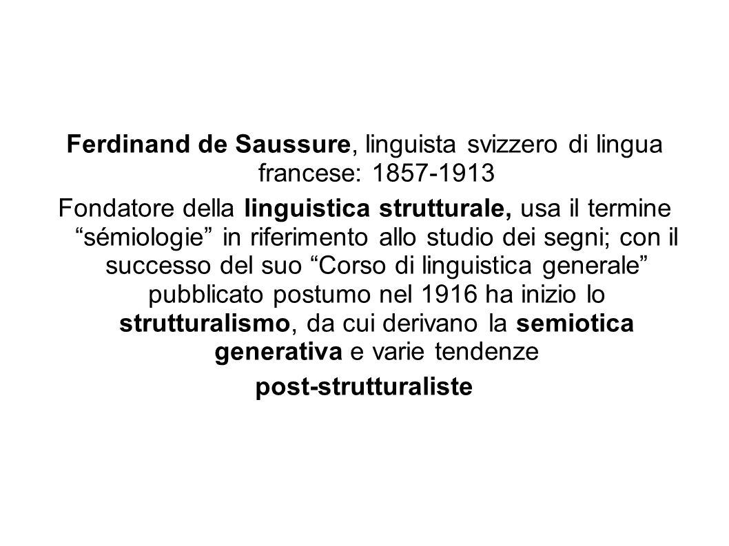 Ferdinand de Saussure, linguista svizzero di lingua francese: 1857-1913
