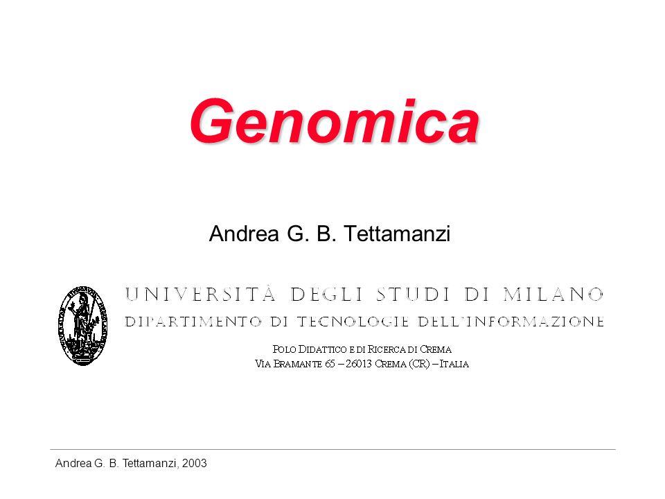 Genomica Andrea G. B. Tettamanzi