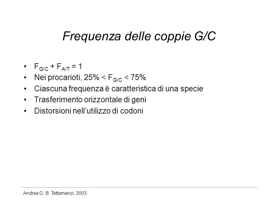 Frequenza delle coppie G/C