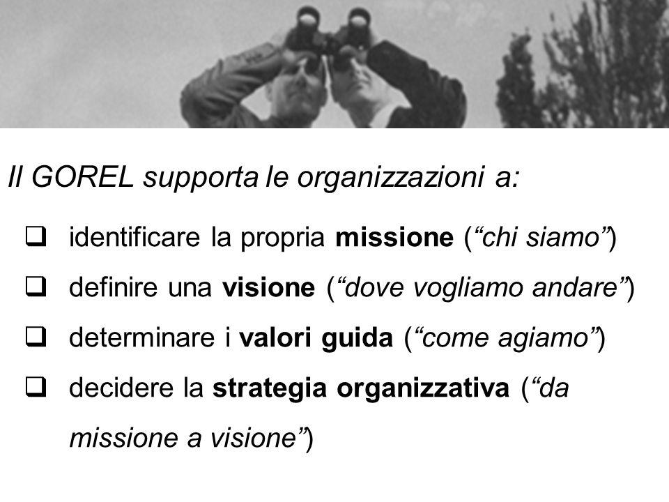 Il GOREL supporta le organizzazioni a: