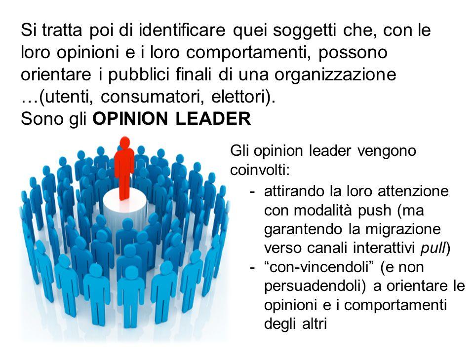 Sono gli OPINION LEADER