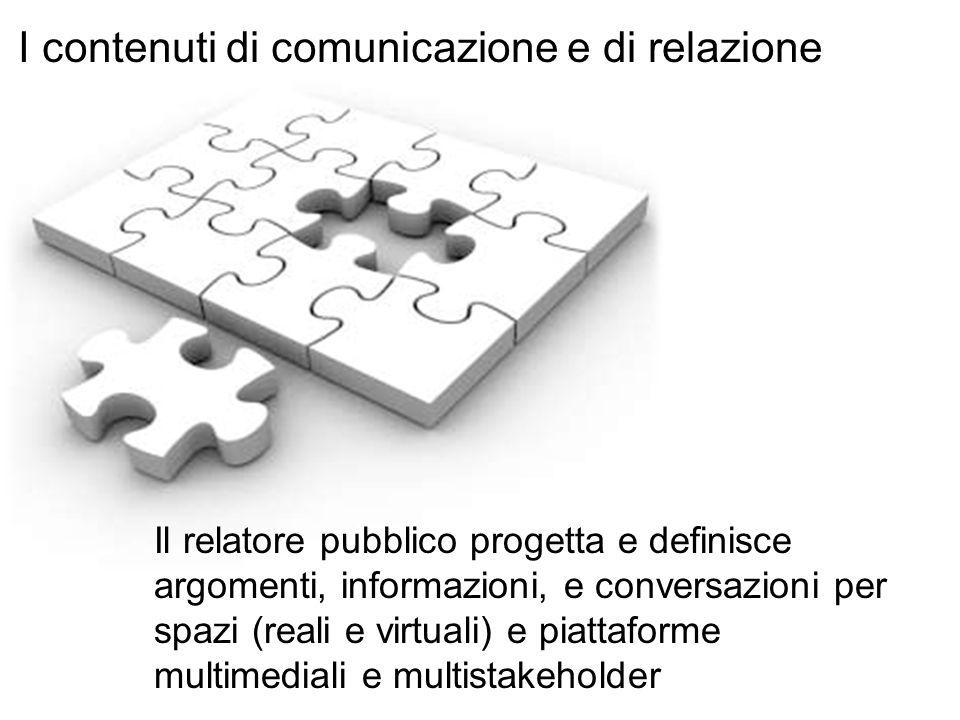I contenuti di comunicazione e di relazione