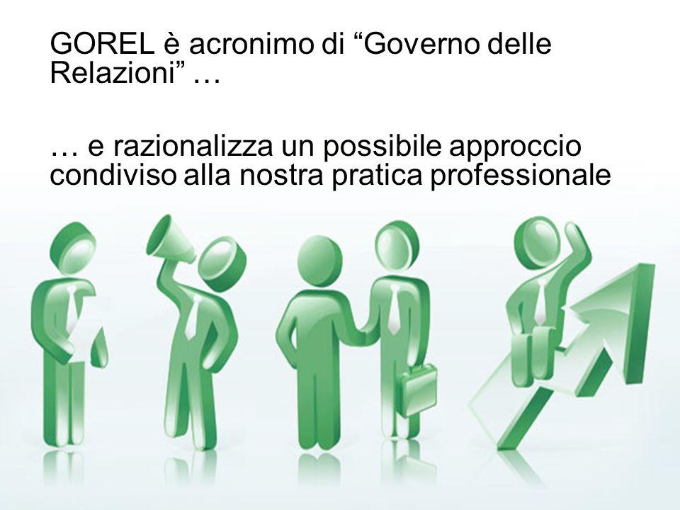 GOREL è acronimo di Governo delle Relazioni …