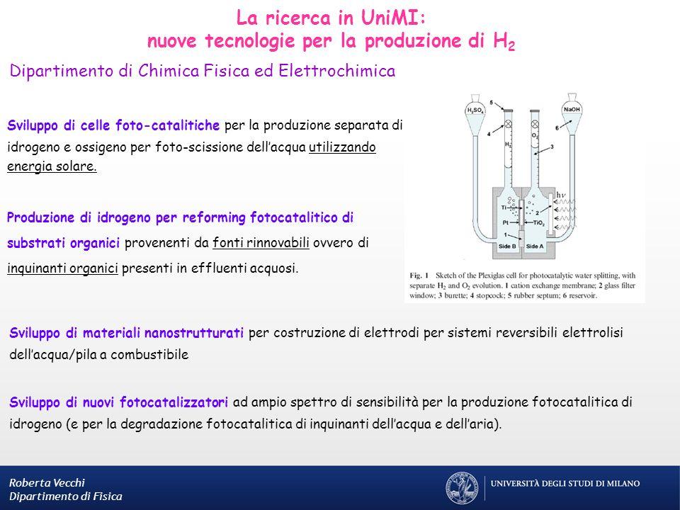 nuove tecnologie per la produzione di H2
