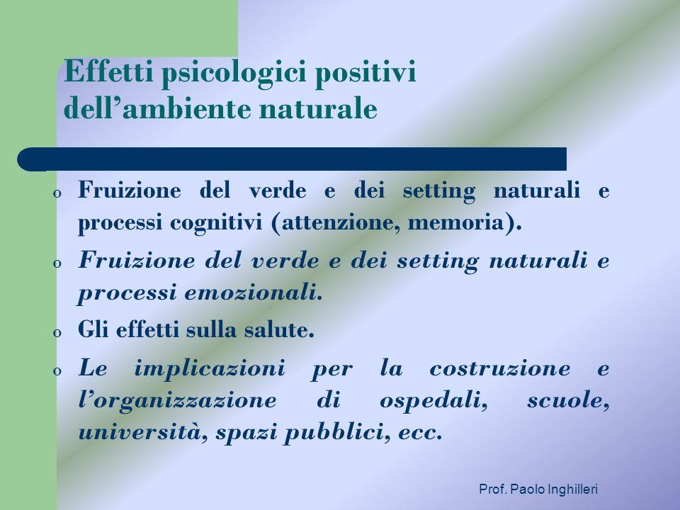 Effetti psicologici positivi dell'ambiente naturale