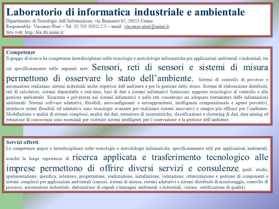 Laboratorio di informatica industriale e ambientale