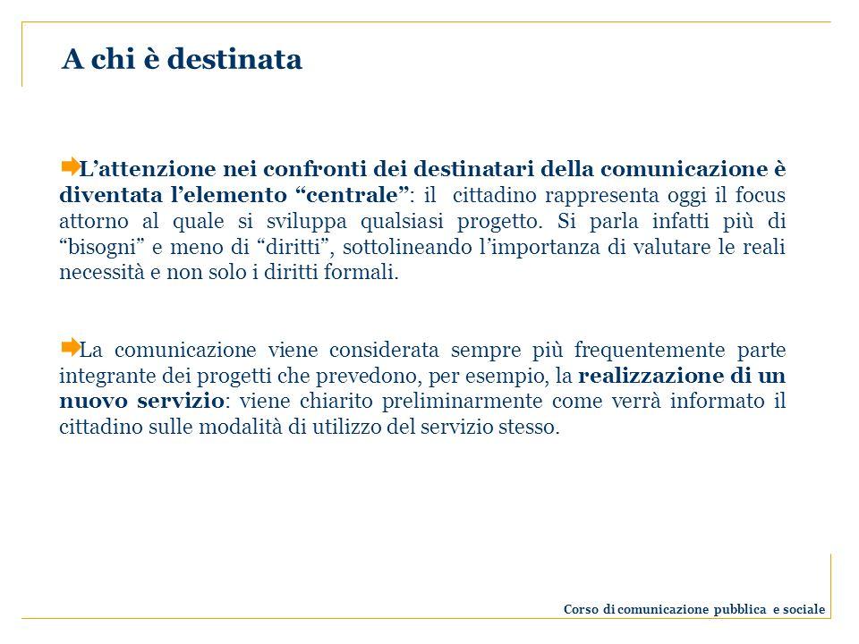 Corso di comunicazione pubblica e sociale