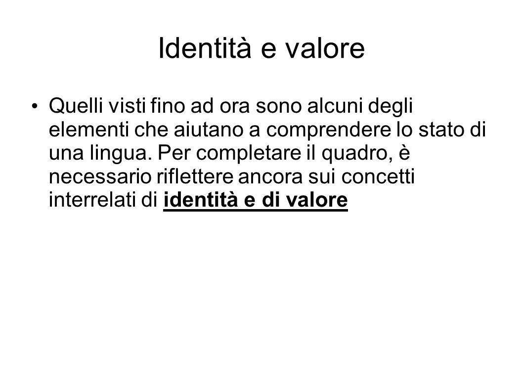 Identità e valore