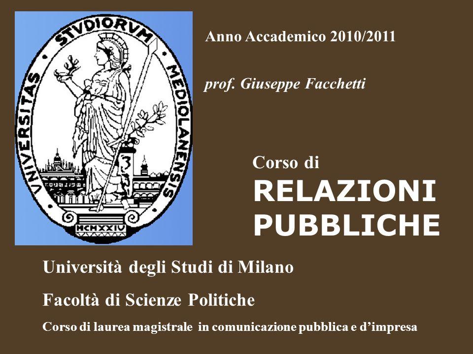 Università degli Studi di Milano Facoltà di Scienze Politiche